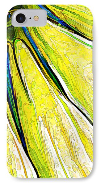 Daisy Petal Abstract In Lemon-lime IPhone Case by ABeautifulSky Photography