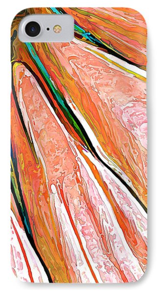 Daisy Petal Abstract In Salmon IPhone Case by ABeautifulSky Photography