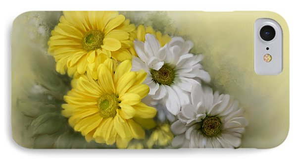IPhone Case featuring the painting Daisy Spring Bouquet by Bonnie Willis
