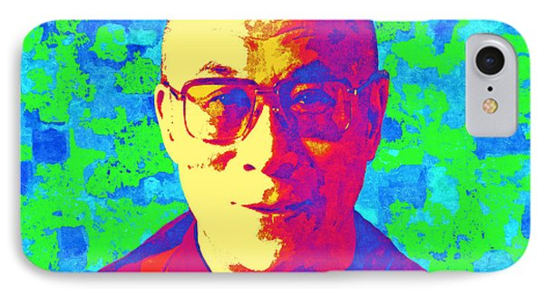 Dalai Lama - Retro Pop Art, Peace IPhone Case by Stacey Chiew