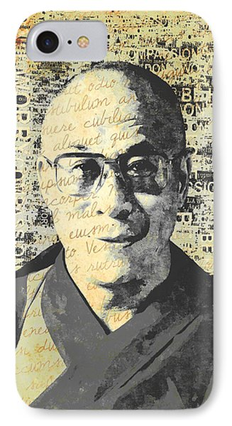 Dalai Lama - Retro Vintage IPhone Case by Stacey Chiew