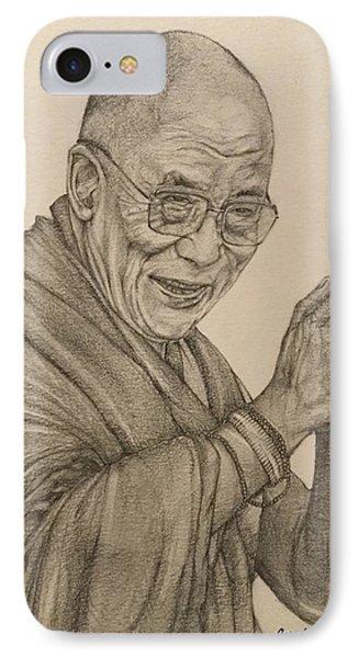 Dalai Lama Tenzin Gyatso IPhone 7 Case by Kent Chua