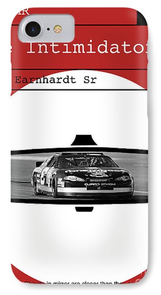 Dale Earnhardt Sr., The Intimidator, Nascar, Minimalist Poster Art IPhone Case by Thomas Pollart
