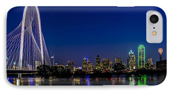 Dallas At Night IPhone Case by Tamyra Ayles