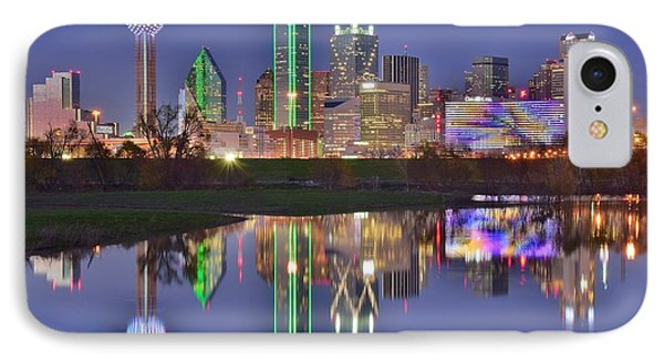 Dallas Blue Hour IPhone Case by Frozen in Time Fine Art Photography