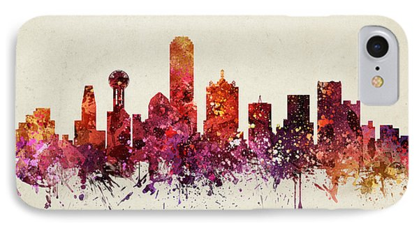 Dallas Cityscape 09 IPhone Case by Aged Pixel