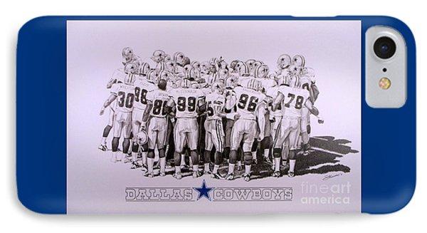 Dallas Cowboys Phone Case by Shawn Stallings