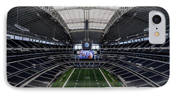 Dallas Cowboys Stadium End Zone IPhone Case by Jonathan Davison