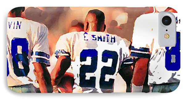Dallas iPhone 7 Case - Dallas Cowboys Triplets by Paul Van Scott