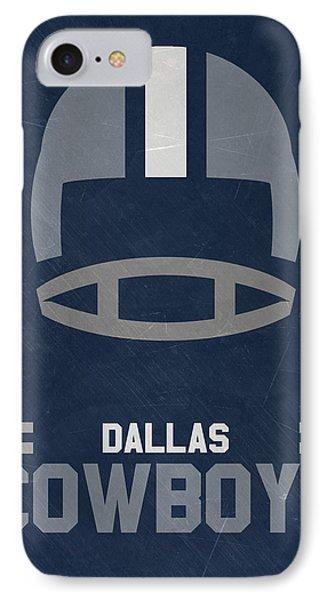 Football iPhone 7 Case - Dallas Cowboys Vintage Art by Joe Hamilton
