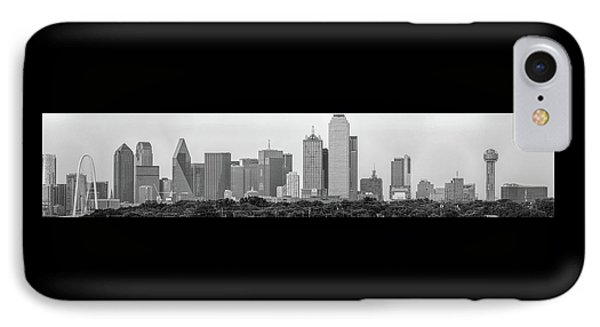 Dallas In Black And White IPhone Case by Jonathan Davison