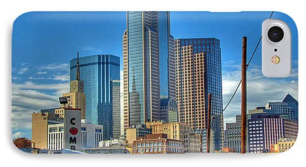 IPhone Case featuring the photograph Dallas Morning Skyline by Farol Tomson