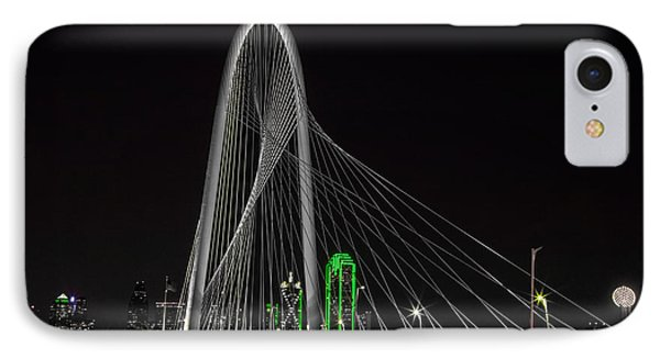 Dallas Nightscape With Green IPhone Case by John Roberts