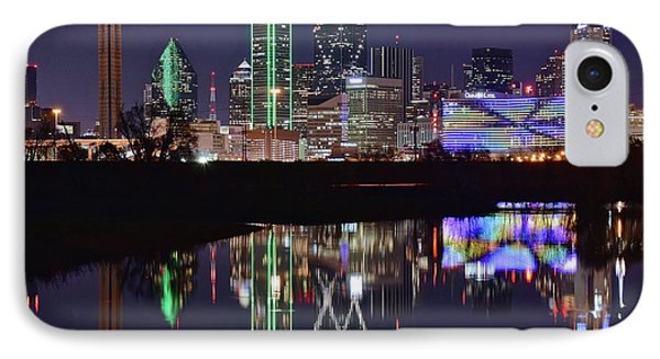 Dallas Reflecting At Night IPhone Case