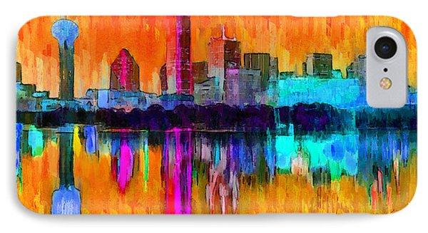 Dallas Skyline 2 - Da IPhone Case