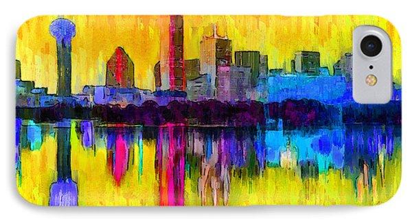Dallas Skyline 3 - Da IPhone Case