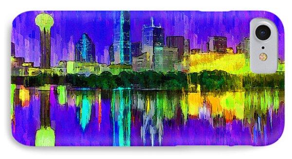 Dallas Skyline 4 - Pa IPhone Case