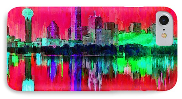 Dallas Skyline 6 - Pa IPhone Case by Leonardo Digenio