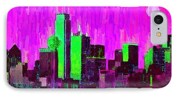 Dallas Skyline 64 - Pa IPhone Case by Leonardo Digenio