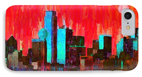 Dallas Skyline 65 - Pa IPhone Case