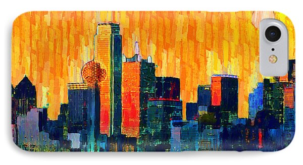 Dallas Skyline 66 - Pa IPhone Case by Leonardo Digenio