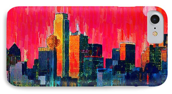 Dallas Skyline 71 - Pa IPhone Case by Leonardo Digenio