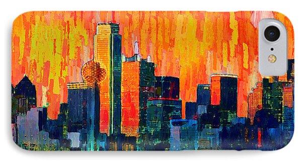 Dallas Skyline 75 - Pa IPhone Case