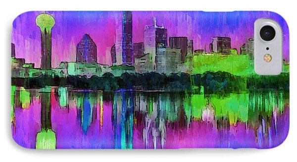 Dallas Skyline 8 - Pa IPhone Case by Leonardo Digenio