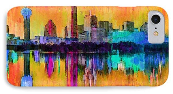 Dallas Skyline 9 - Pa IPhone Case by Leonardo Digenio