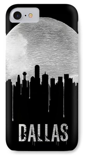 Dallas Skyline Black IPhone 7 Case by Naxart Studio