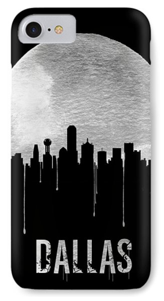 Dallas Skyline Black IPhone Case by Naxart Studio