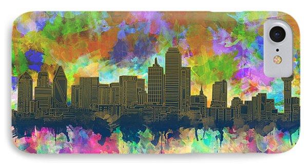 Dallas Skyline Brush Strokes 2 IPhone Case