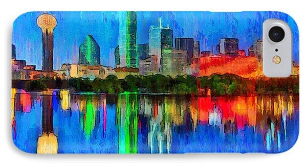 Dallas Skyline - Da IPhone Case by Leonardo Digenio