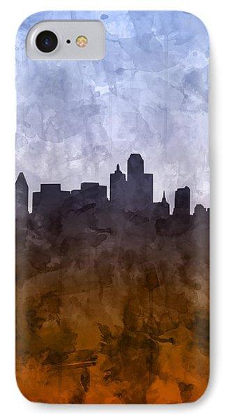 Dallas Skyline Grunge IPhone Case