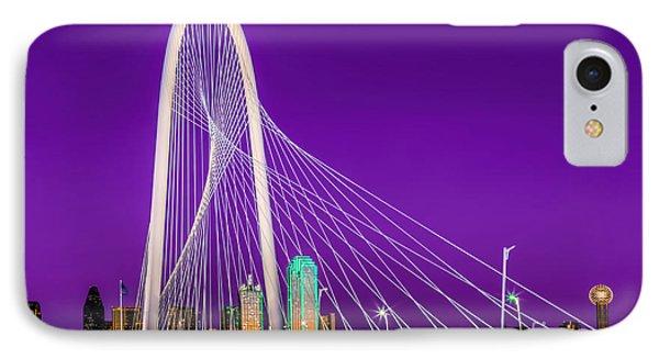 Dallas Skyline Purple IPhone Case