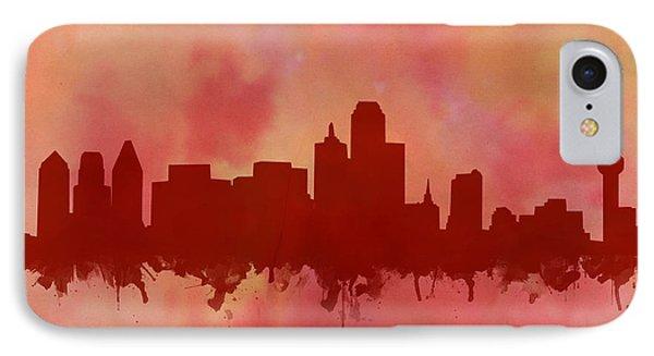 Dallas Skyline Red 2 IPhone Case