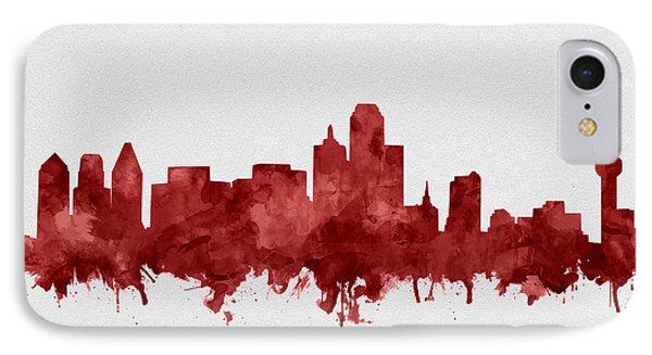 Dallas Skyline Red IPhone Case