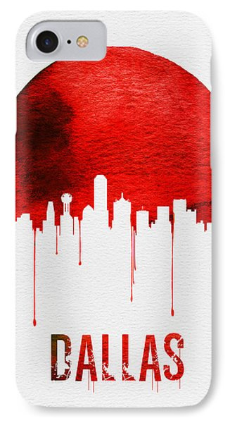 Dallas Skyline Red IPhone 7 Case by Naxart Studio