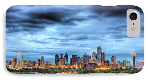 Dallas Skyline IPhone Case by Shawn Everhart