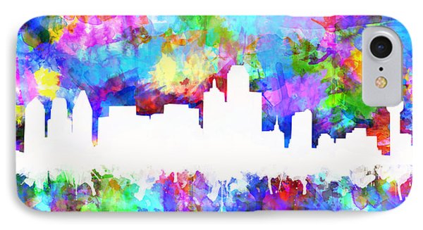 Dallas Skyline Vibrant Colors IPhone Case
