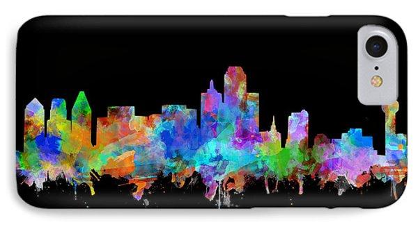 Dallas Skyline Watercolor 5 IPhone Case