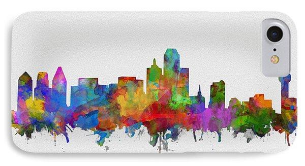 Dallas Skyline Watercolor 6 IPhone Case