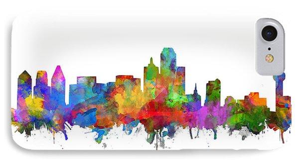 Dallas Skyline Watercolor 7 IPhone Case