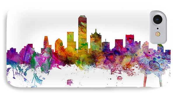 Dallas Texas Skyline Panoramic IPhone Case