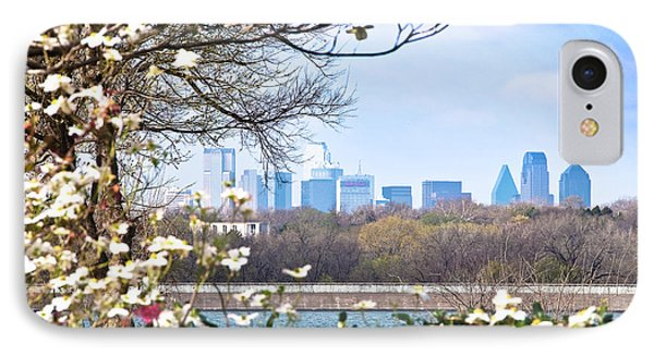 Dallas Through The Dogwood Flowers Phone Case by Tamyra Ayles