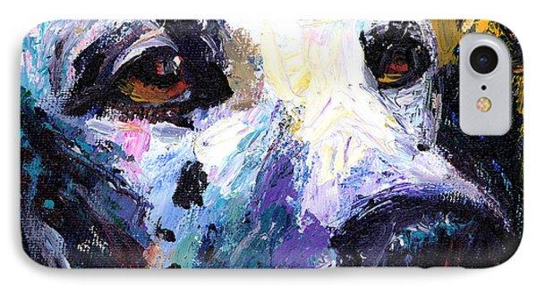 Dalmatian Dog Painting IPhone Case by Svetlana Novikova