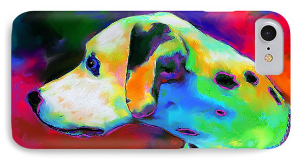 Dalmatian Dog Portrait IPhone Case by Svetlana Novikova