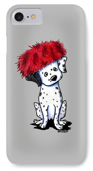 Dalmatian In Red IPhone Case by Kim Niles
