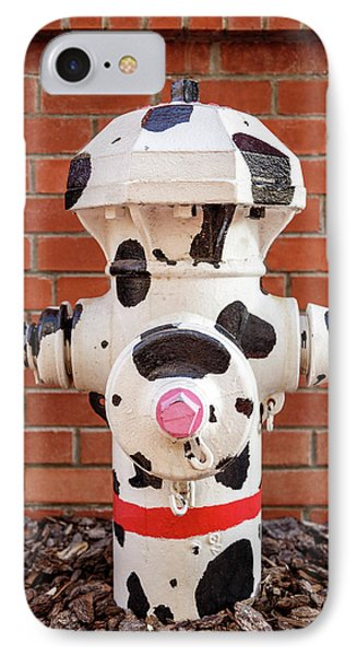 IPhone Case featuring the photograph Dalmation Hydrant by James Eddy