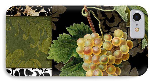 Damask Lerain Wine Grapes IPhone Case